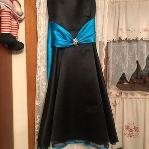 Other - Girls 8 Black Blue pageant flower girl dress